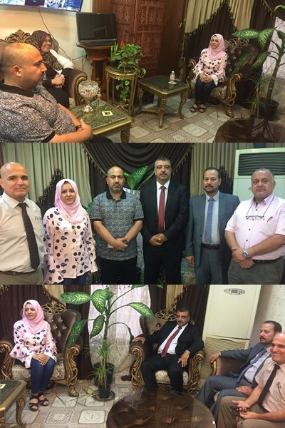 A part of the meeting between the ministerial committee on evaluating the  national classification form for the quality of the Iraqi universities and  the ... 7ee002afc2
