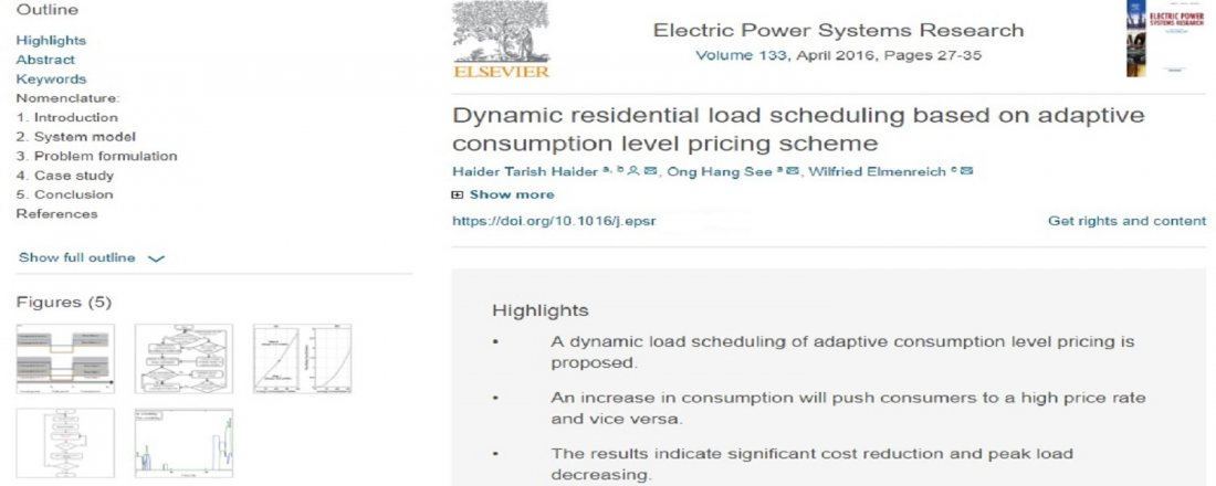 e5941b951 تدريسي من الجامعة المستنصرية ينشر بحثاً في مجلة بحوث نظام الطاقة الكهربائية