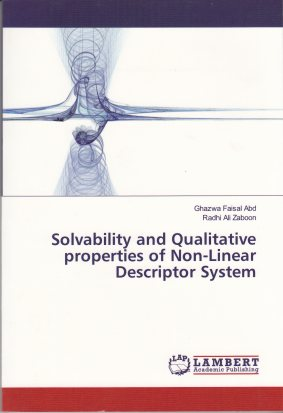 نشر كتاب علمي في أكاديمية ألمانية  Lambertبعنوان Solvability and qualitative properties of non-liner descriptor system